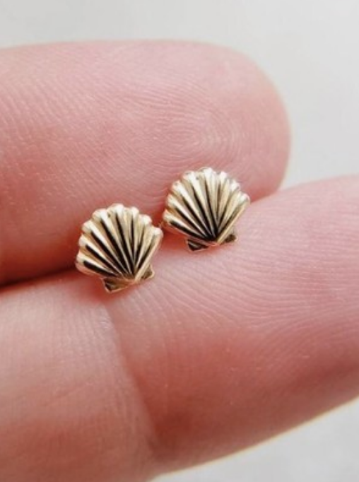 Gold Filled Shell Studs