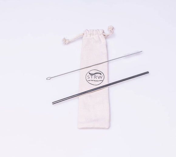 STRW Co. - Reusable Straight Steel Straw