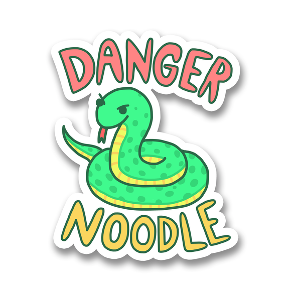 Danger Noodle Snake Vinyl Sticker