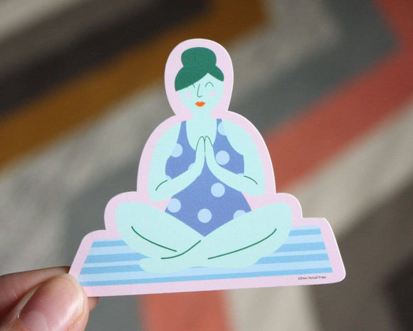 Yoga Vinyl Sticker