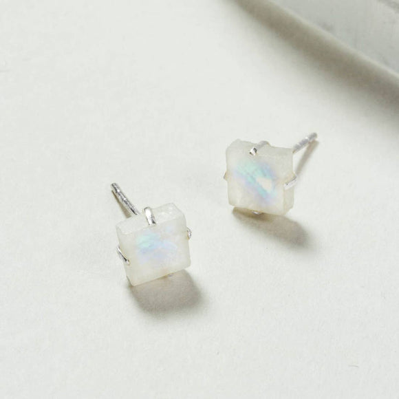 Raw Beauty Post Earring - Moonstone