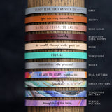 Laurel Denise - Mama - Leather Bracelet Jewelry - Addt Colors