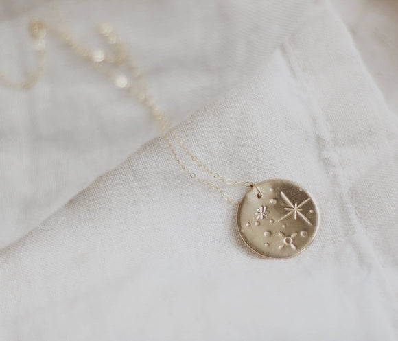 Cosmos Coin Layering Necklace