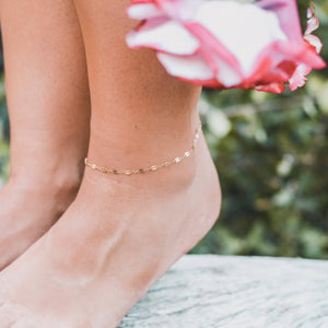 14kt rose gold filled Anklet
