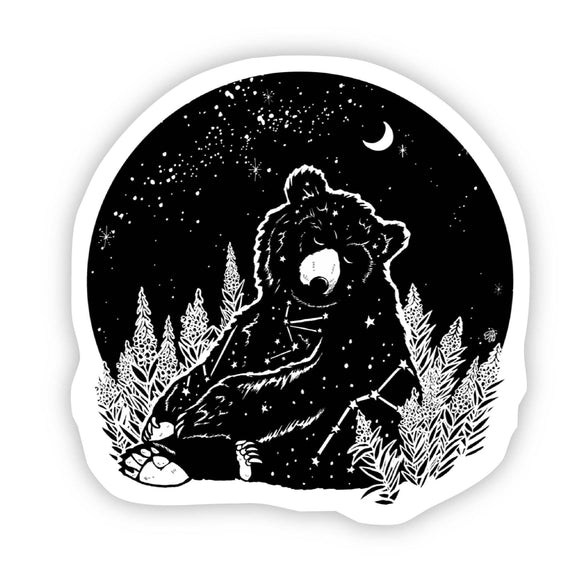 Bear Night Sticker