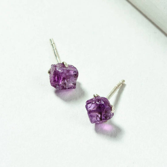 Raw Beauty Post Earring - Amethyst