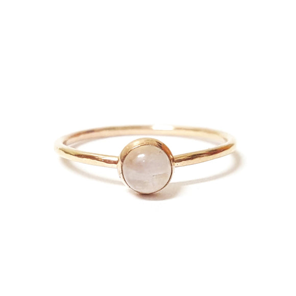 Medium Moonstone Stacking Ring in Gold