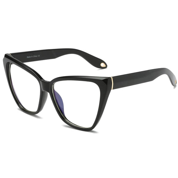 Black Cat's Eye Blue Light Blocker Glasses