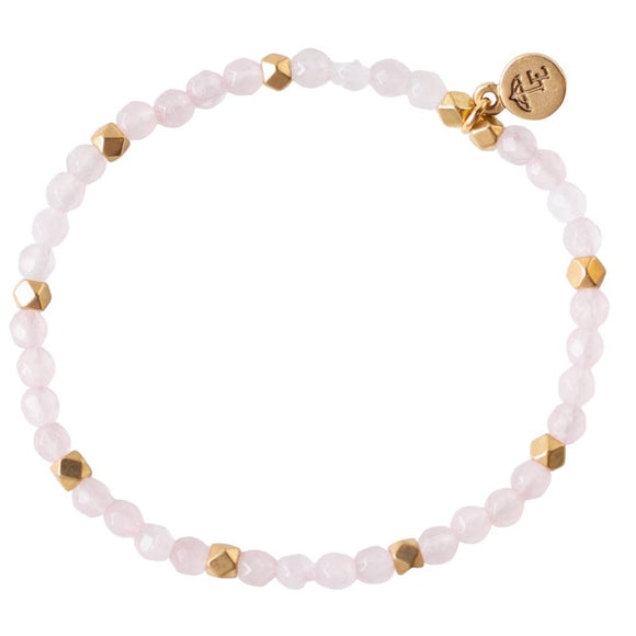 Rose Quartz Gemstone Stretch Bracelets
