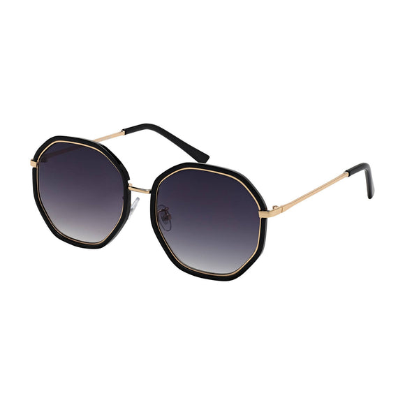 16591 - JADE - BLACK / GOLD / GRADIENT SMOKE LENS