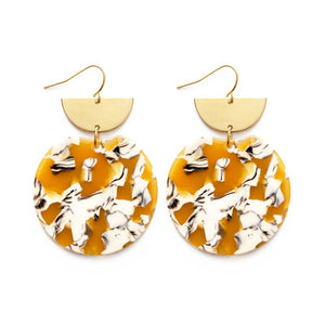 Pollock Earrings- Autumn Rythm