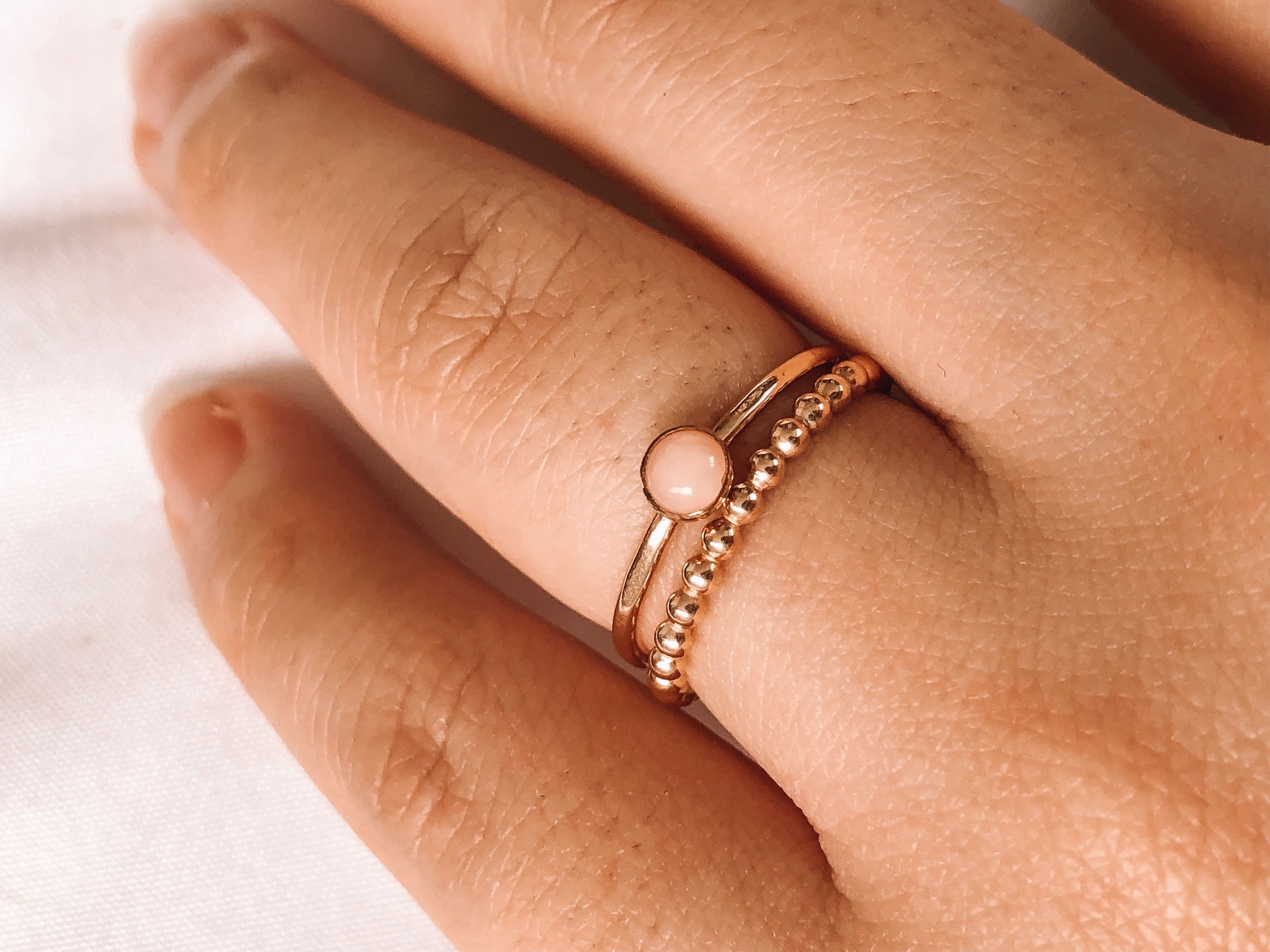 14k Gold Filled Stone Ring