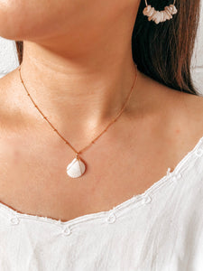 White Shell - 14k gold filled necklace