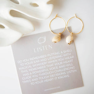 Shell Earrings-White