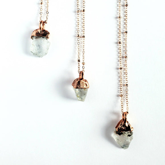 Raw Topaz Birthstone Necklace
