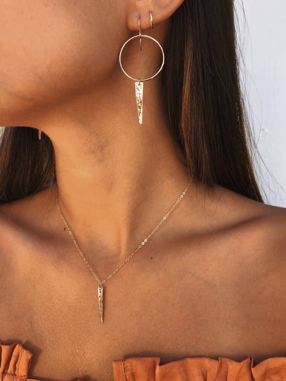 14k gold filled Dainty Lil Spike Necklace