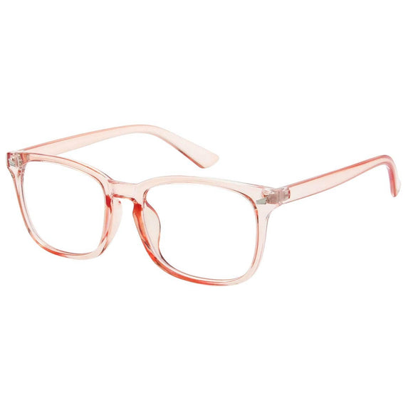 Orange Horn-Rimmed Frame Blue Light Blocker Glasses