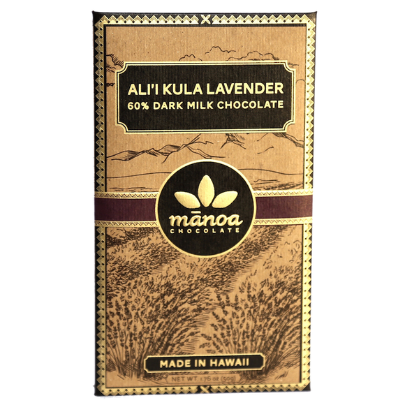 Manoa Chocolate Hawaii - Maui Lavender Dark Milk Chocolate Bar