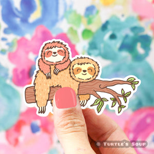Lazy Sloths Vinyl Sticker