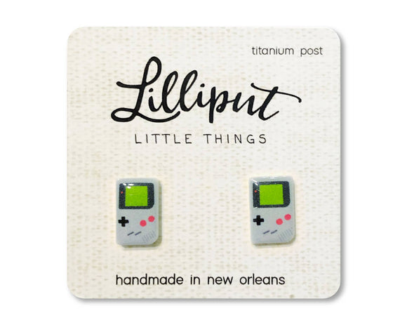 Retro Handheld Game Earrings