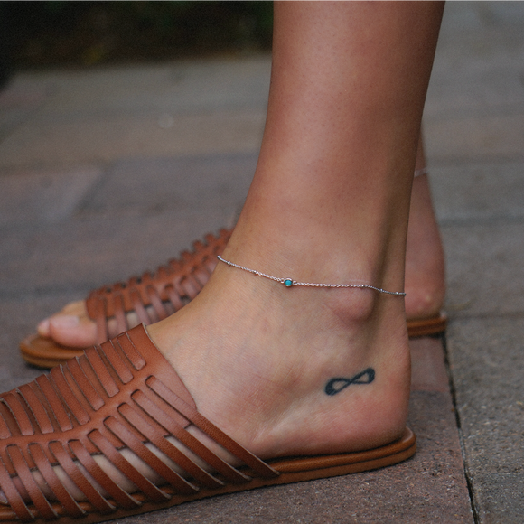 Single Stone Anklet