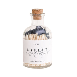 Black Small Safety Matches - Apothecary Jar