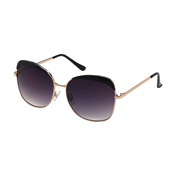 16503 - JADE - GOLD / BLACK / GRADIENT SMOKE LENS