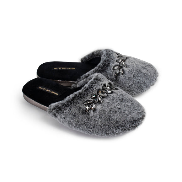 Preorder Dido Slippers with Jewelled Trim