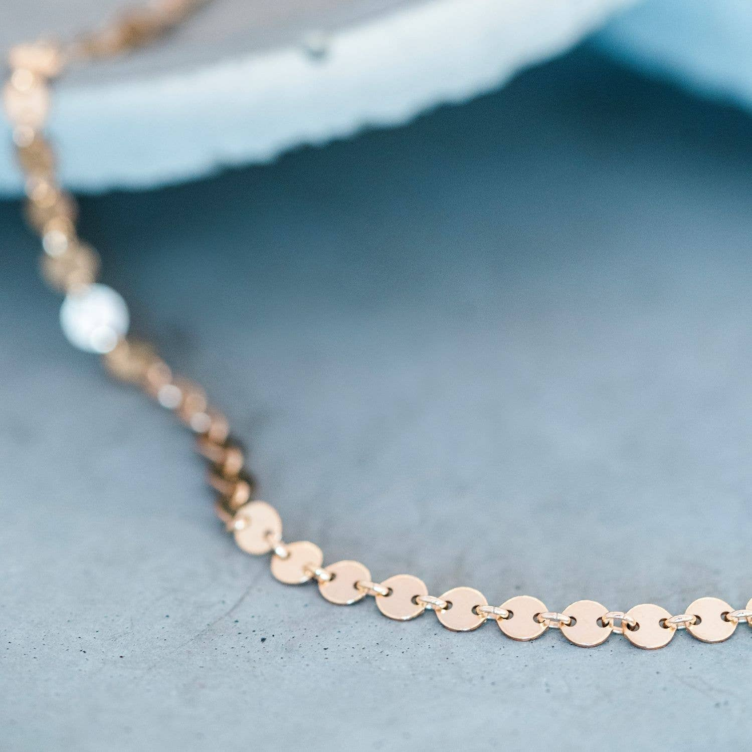 14kt gold filled Coin Anklet