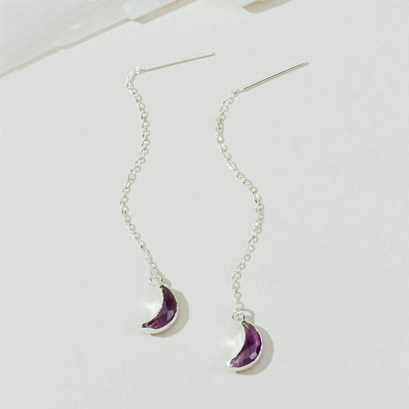 Eclipse Amethyst Threader Earring