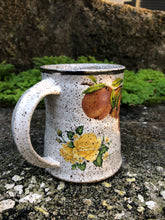 Load image into Gallery viewer, Strawberry and Rose Ceramic Mug with White Gold Rim
