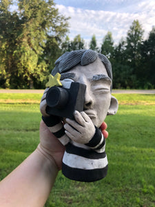 Andy Warhol with Camera Ceramic Succulent Planter