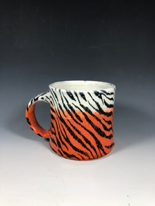Tiger Stripe Mug in Orange and White