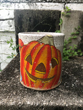 Load image into Gallery viewer, Large Jack O Lantern and Mouse Vintage Inspired Mug