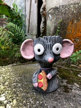 Load image into Gallery viewer, Pizza Rat Succulent Planter// Ceramic Rat with Pizza Pot