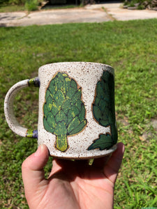 Artichoke Illustrated Mug // Garden Collection