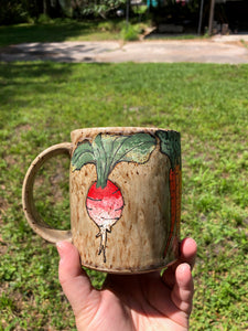 Root Vegetable Illustrated Mug 3 // Garden Collection