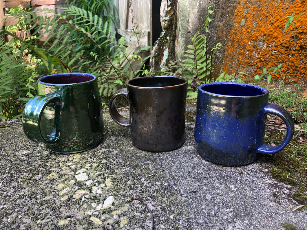 Metallic Glazed Ceramic Mugs