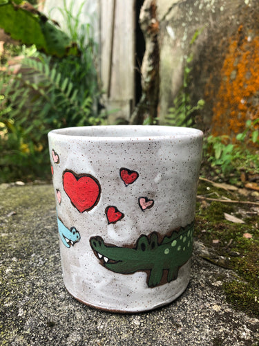 Alligator Love Illustrated Mug