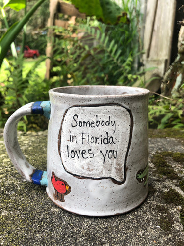 Somebody in Florida Loves You Illustrated Mug