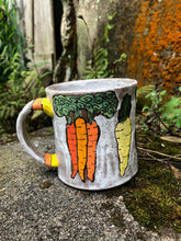 Load image into Gallery viewer, Root Vegetable Illustrated Mug 4 // Garden Collection