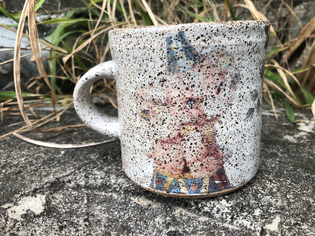 Faint Baby Elephant Vintage Inspired Ceramic Mug