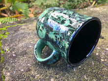 Load image into Gallery viewer, Punk Rock Skull Mug in Dark Green