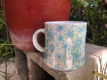 Load image into Gallery viewer, Snow Flake with Iridescent Finish Ceramic Mug