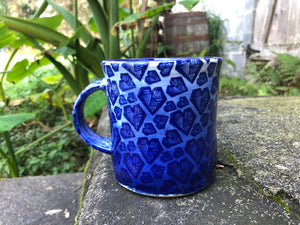 Blue Heart Ceramic Mug