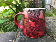 Load image into Gallery viewer, Pomegranate in Red Ombre Ceramic Mug