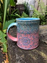 Load image into Gallery viewer, Mandala Mug in Turquoise and Pink