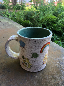 Vintage Care Bear Mug with Green Interior