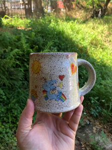 Vintage Care Bear Mug with Pink Interior