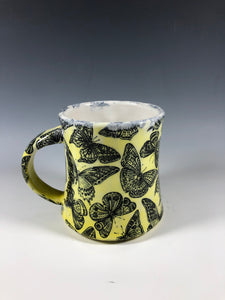 Butterfly Mug in Yellow